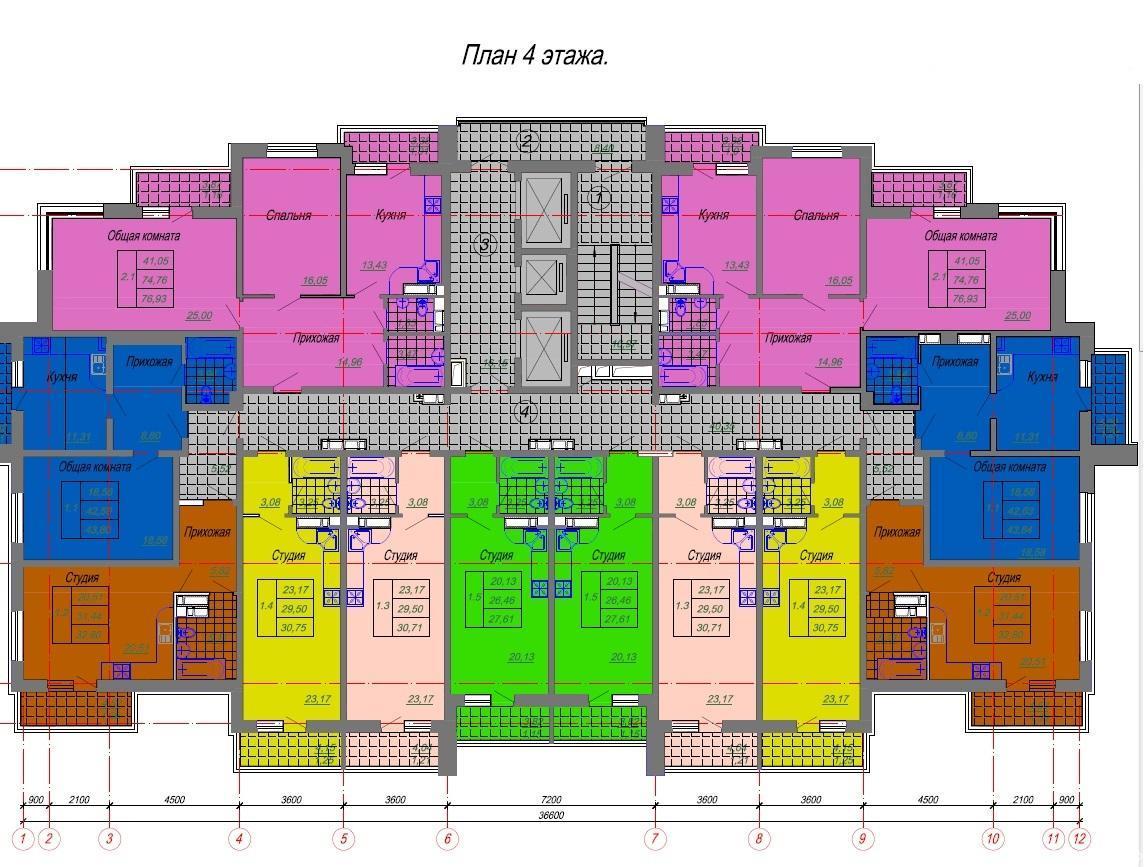 Планировки ЖК Луч Краснодар | план - 1