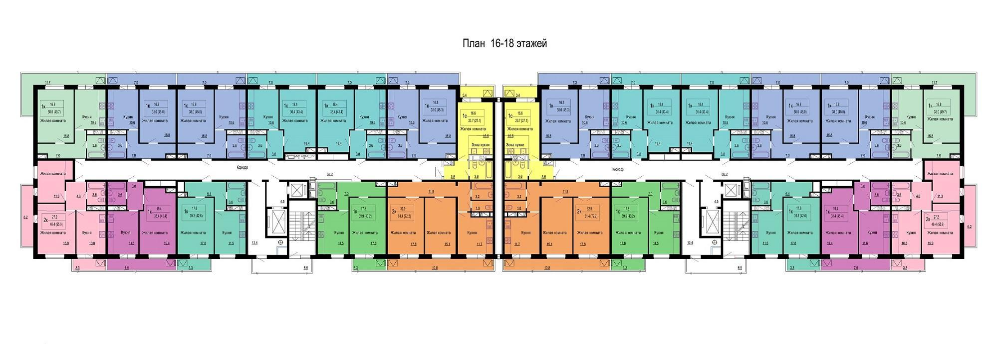 Планировки ЖК Мелодия Краснодар | план - 1