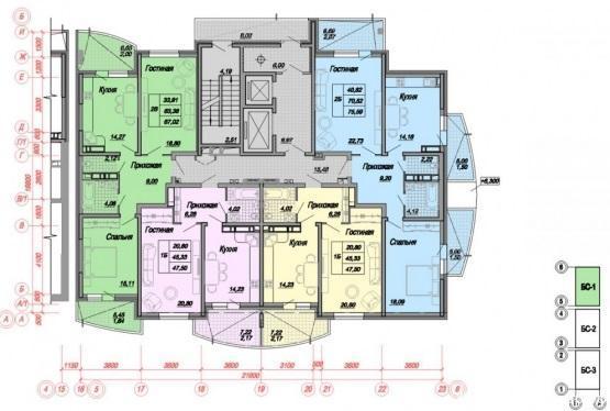 Планировки ЖК Минская, 118 Краснодар | план - 1