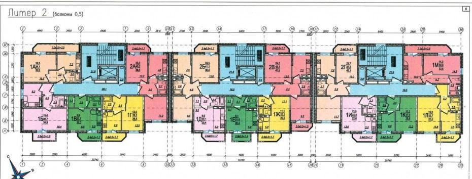 Планировки ЖК Новая Адыгея-2 Краснодар | план - 2