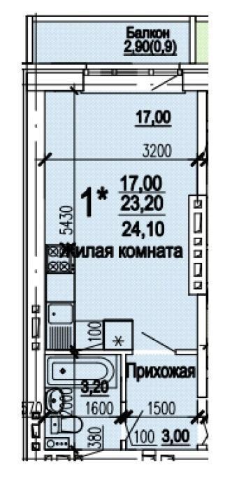 Планировки ЖК Оазис, этап 1 Краснодар | план - 11