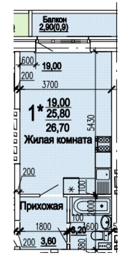 Планировки ЖК Оазис, этап 1 Краснодар | план - 12