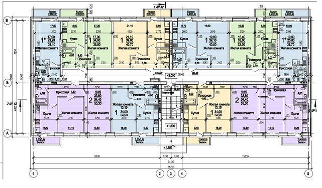 Планировки ЖК Оазис, этап 1 Краснодар | план - 2