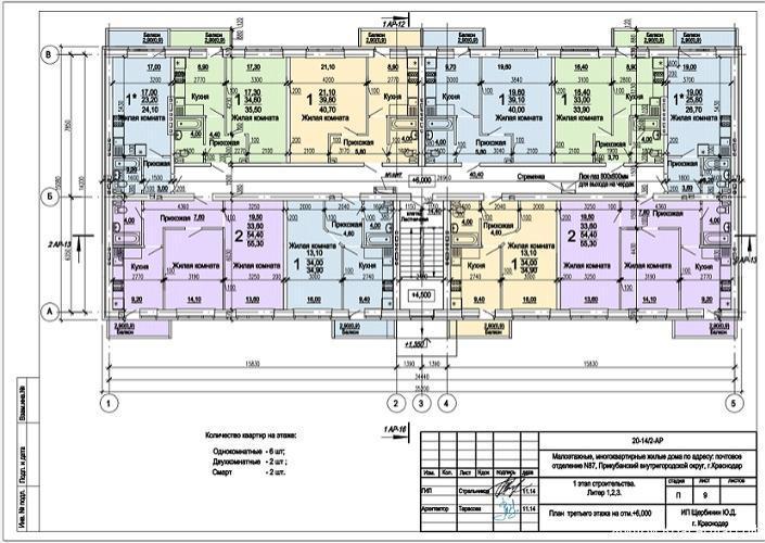 Планировки ЖК Оазис, этап 1 Краснодар | план - 3