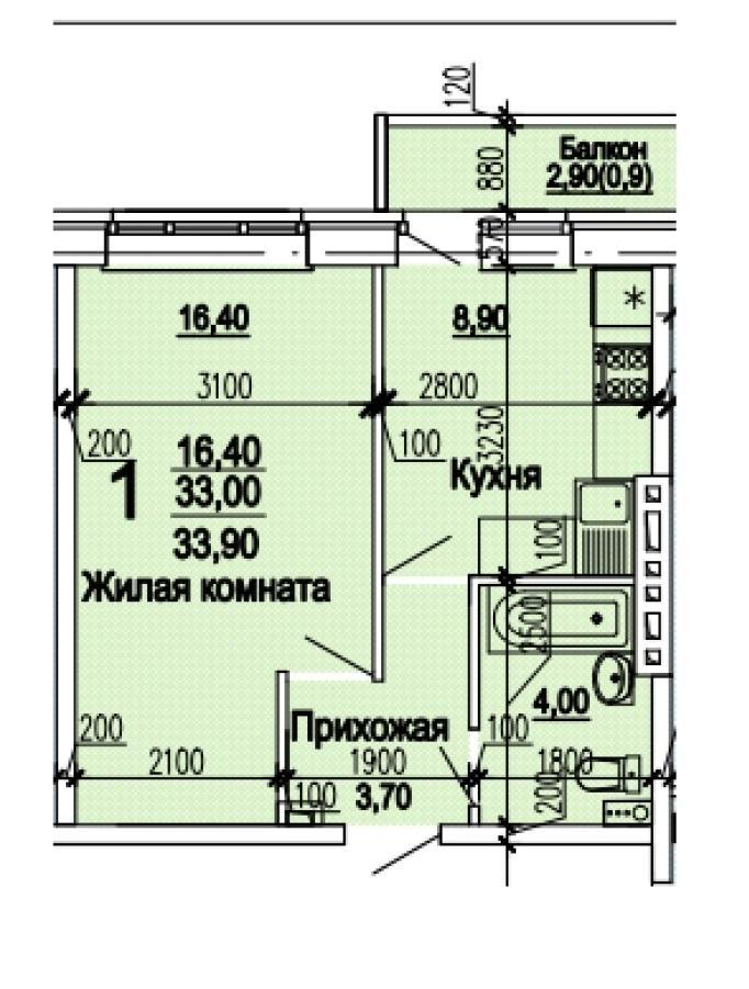 Планировки ЖК Оазис, этап 1 Краснодар | план - 5