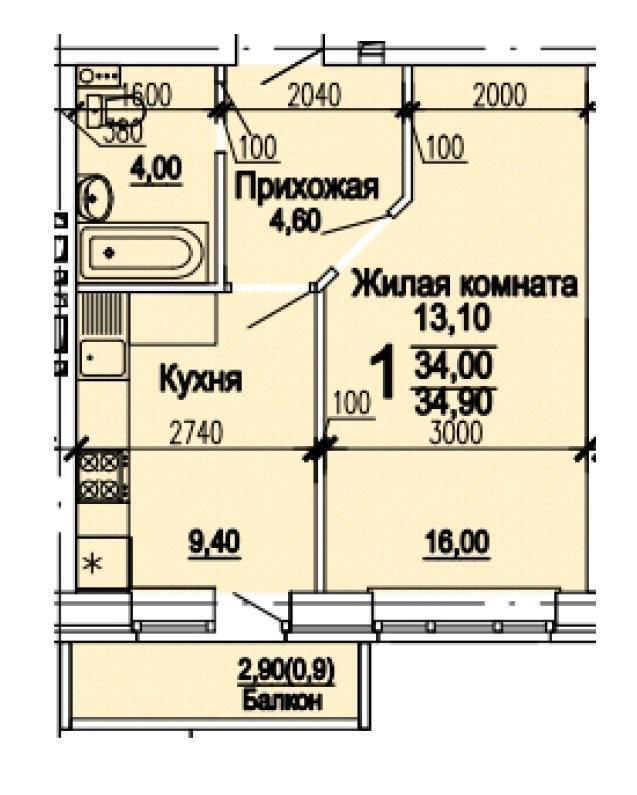 Планировки ЖК Оазис, этап 1 Краснодар | план - 6