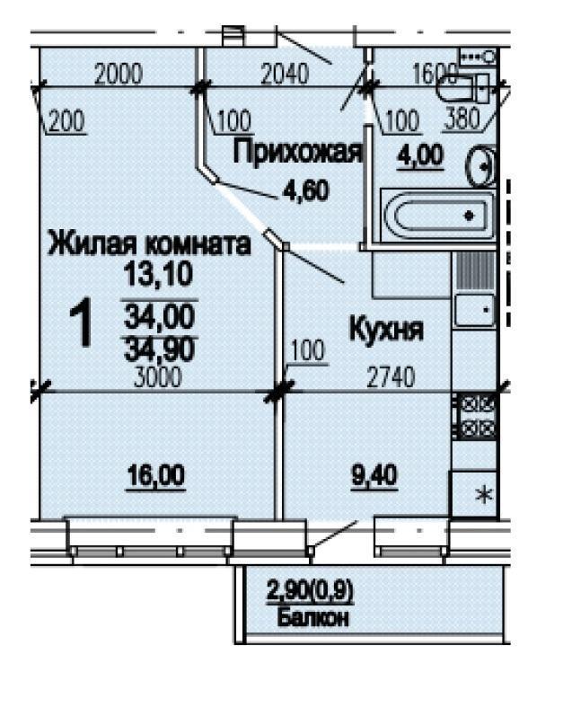 Планировки ЖК Оазис, этап 1 Краснодар | план - 7