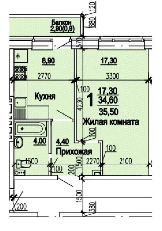 Планировки ЖК Оазис, этап 1 Краснодар | план - 8