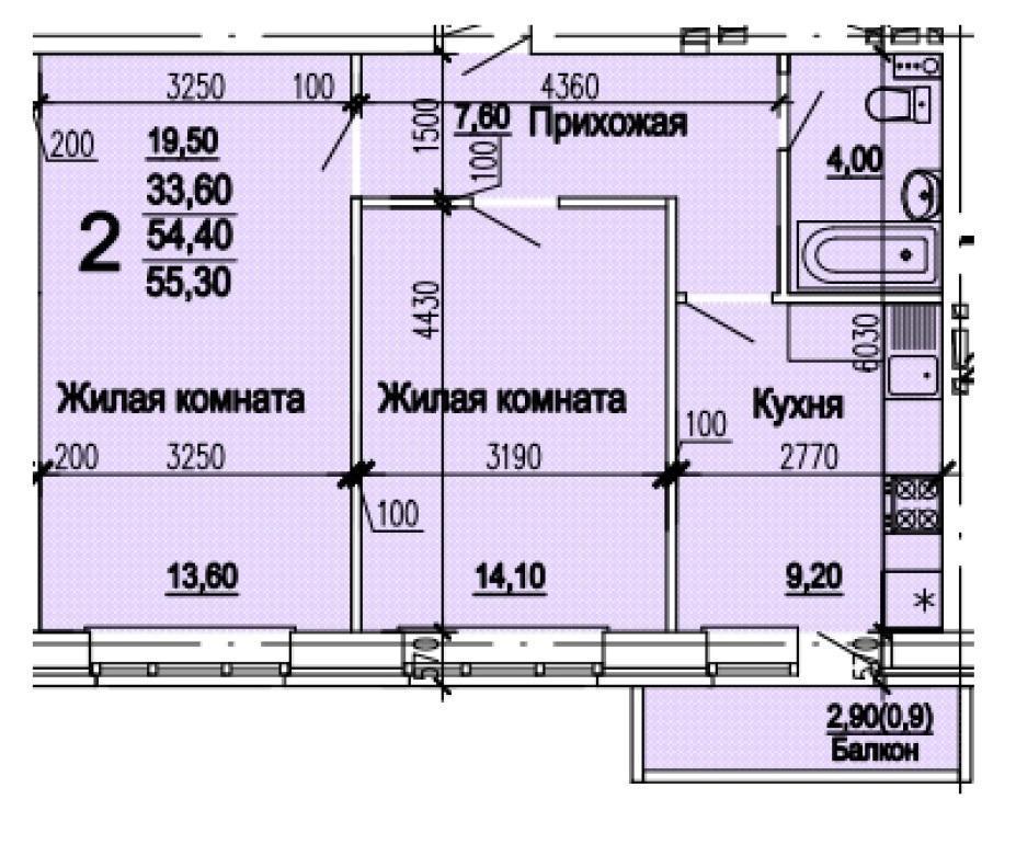Планировки ЖК Оазис, этап 1 Краснодар | план - 9