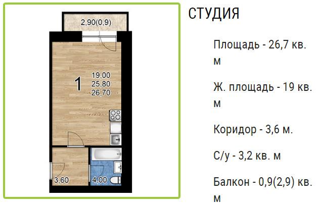 Планировки ЖК Оазис, этап 2 Краснодар | план - 2