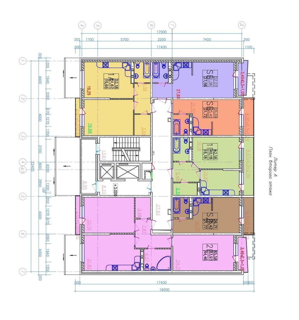 Планировки ЖК Открытые двери Краснодар | план - 1