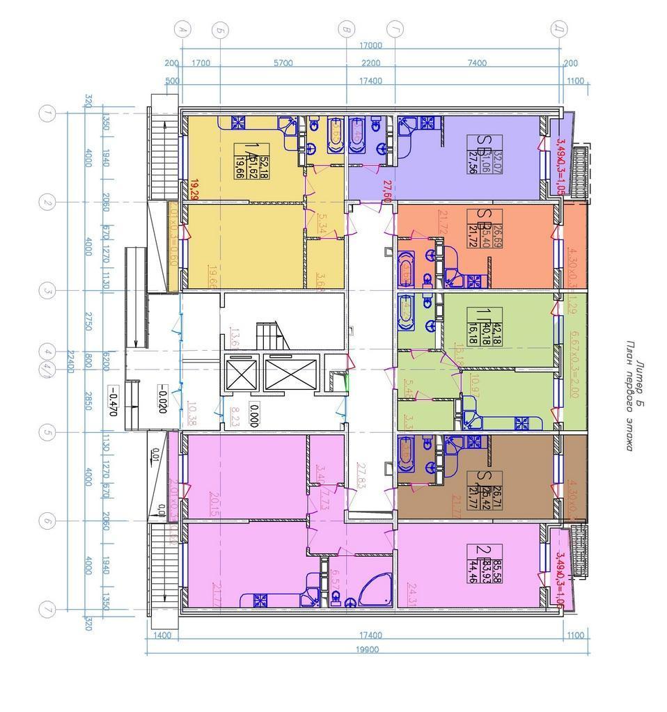 Планировки ЖК Открытые двери Краснодар | план - 2