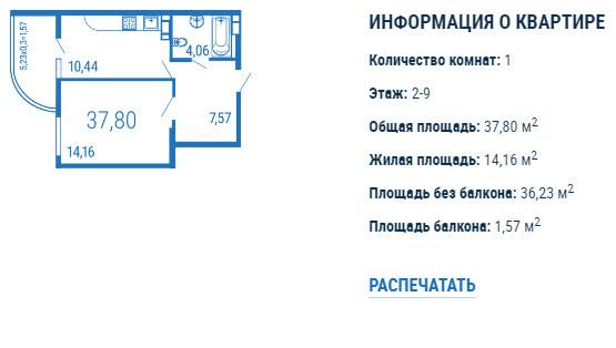 Планировки ЖК Параллели Краснодар | план - 1