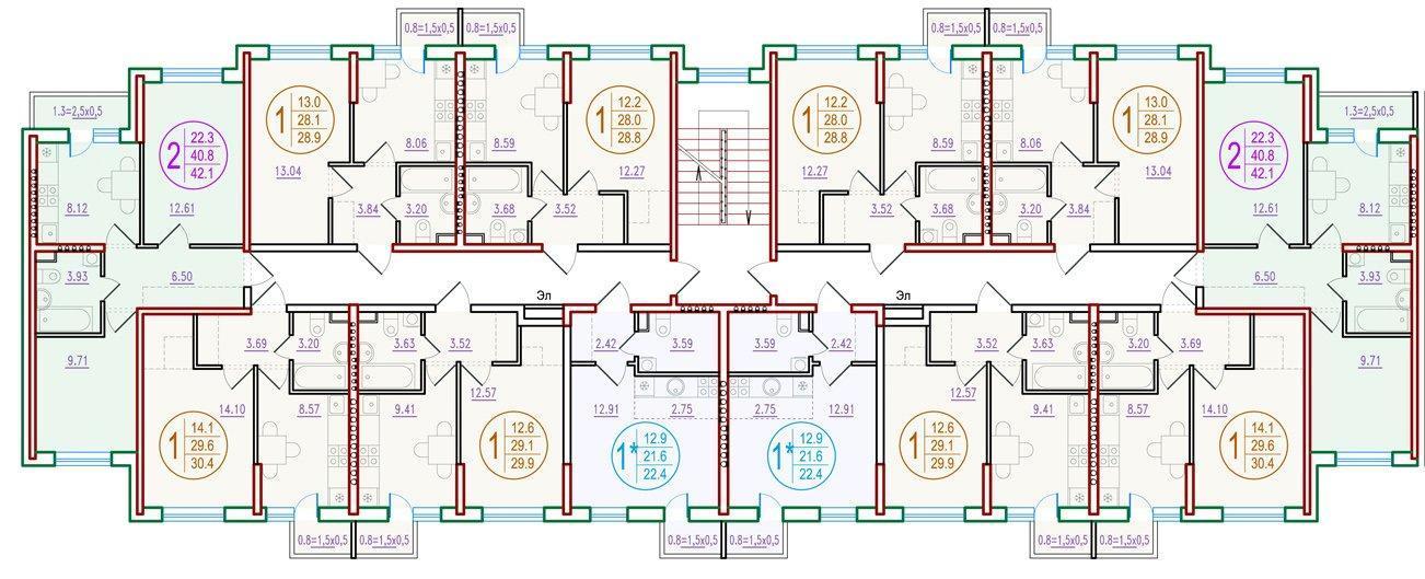 Планировки ЖК Прогресс Краснодар | план - 1