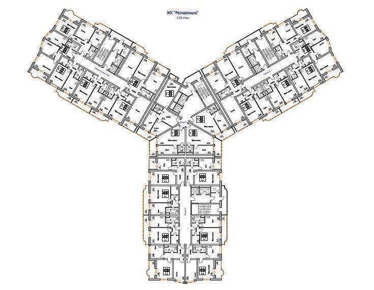 Планировки ЖК Резиденция Краснодар | план - 1