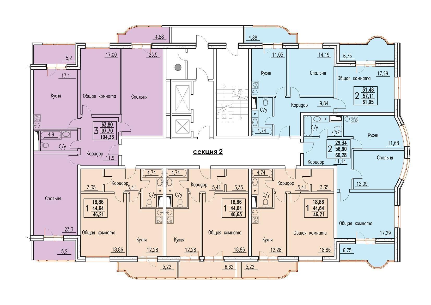 Планировки ЖК Резиденция Краснодар | план - 3