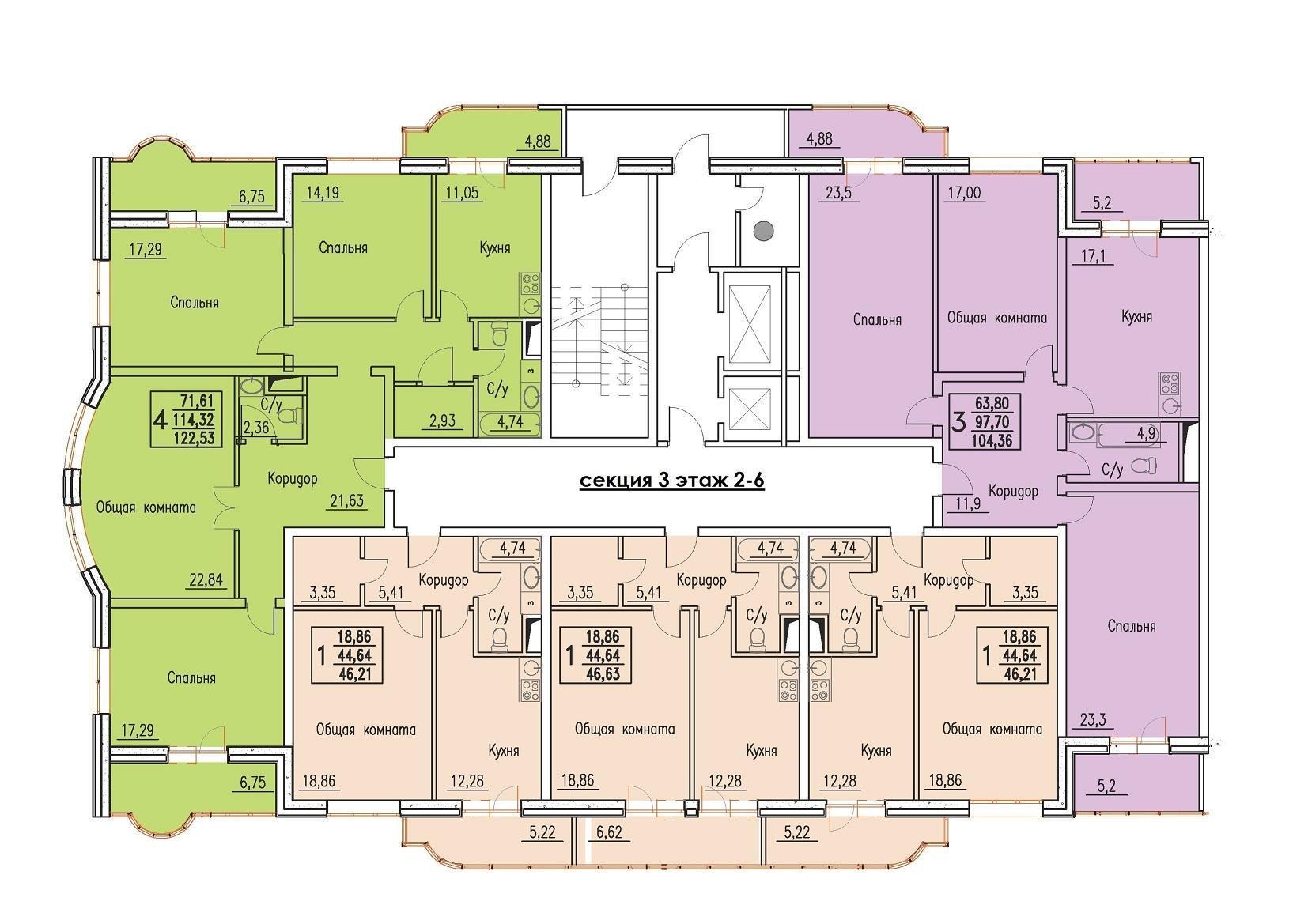 Планировки ЖК Резиденция Краснодар | план - 4