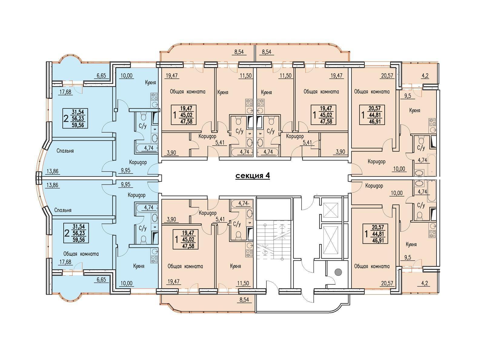 Планировки ЖК Резиденция Краснодар | план - 5