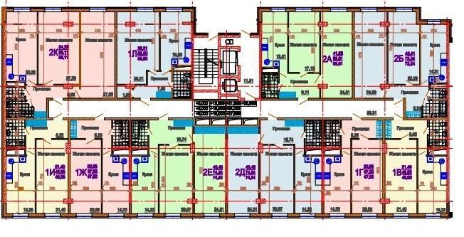 Планировки ЖК Rich House Краснодар | план - 1