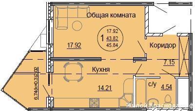 Планировки ЖК Седьмой континент Краснодар | план - 2