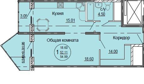Планировки ЖК Седьмой континент Краснодар | план - 5
