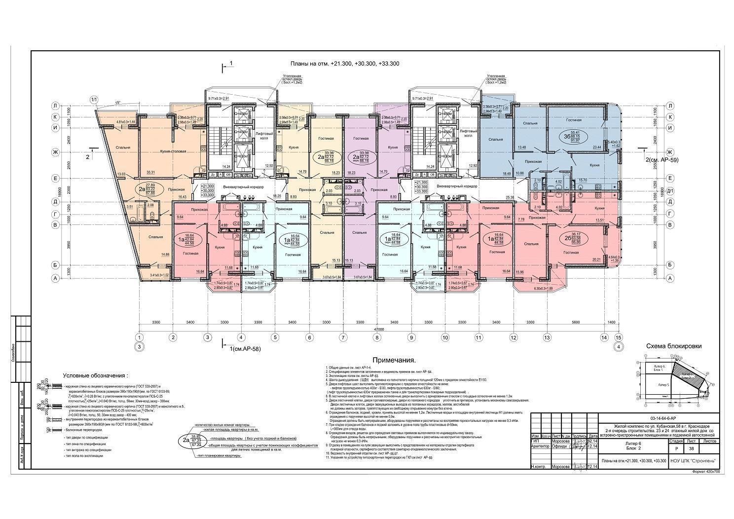 Планировки ЖК Солнечный остров Краснодар | план - 1