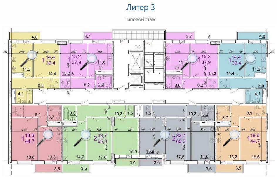 Планировки ЖК Солнечный Парк Краснодар | план - 1