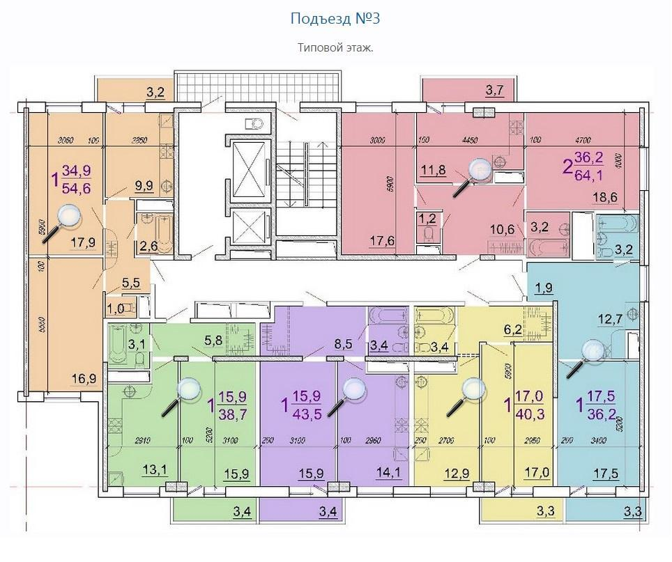 Планировки ЖК Солнечный Парк Краснодар | план - 3