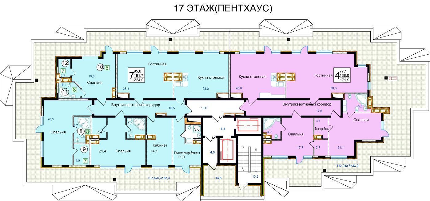 Планировки ЖК Старокубанский Краснодар | план - 1