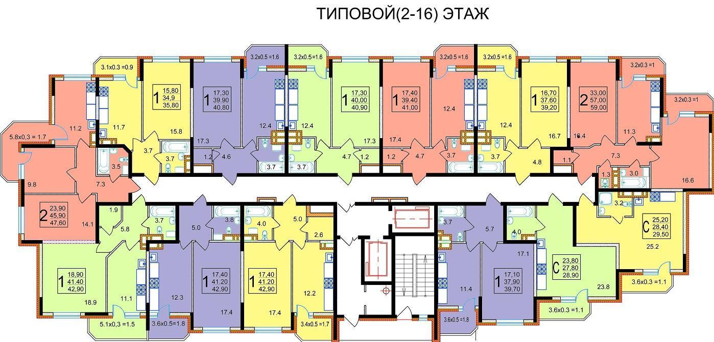 Планировки ЖК Старокубанский Краснодар | план - 2