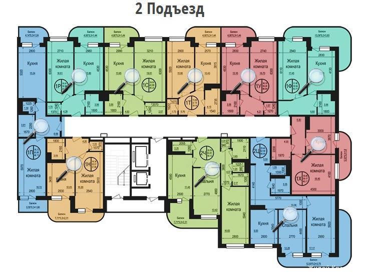 Планировки ЖК Талисман Краснодар | план - 1