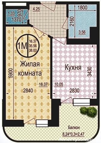Планировки ЖК Талисман Краснодар | план - 2