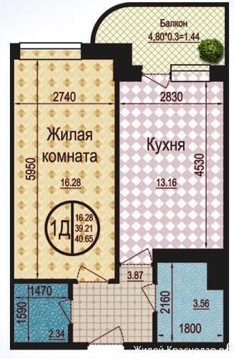 Планировки ЖК Талисман Краснодар | план - 3
