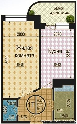 Планировки ЖК Талисман Краснодар | план - 4