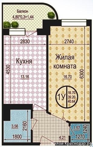 Планировки ЖК Талисман Краснодар | план - 5