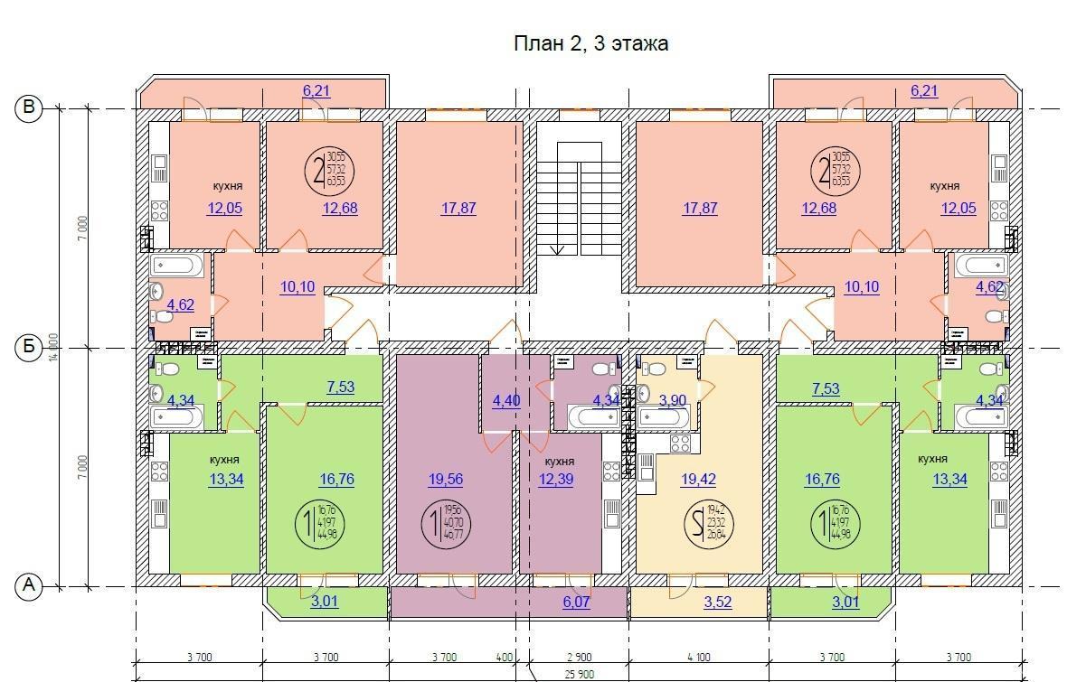 Планировки ЖК Виктория Краснодар | план - 1