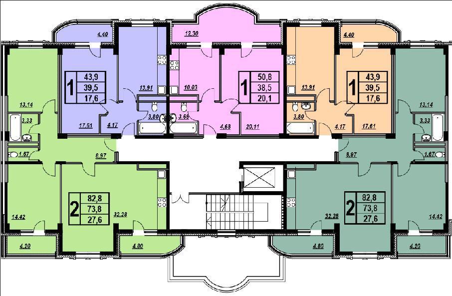 Планировки ЖК Вивальди Краснодар | план - 1