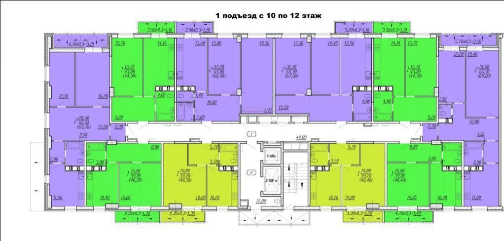 Планировки ЖК Восточный Парк Краснодар | план - 1