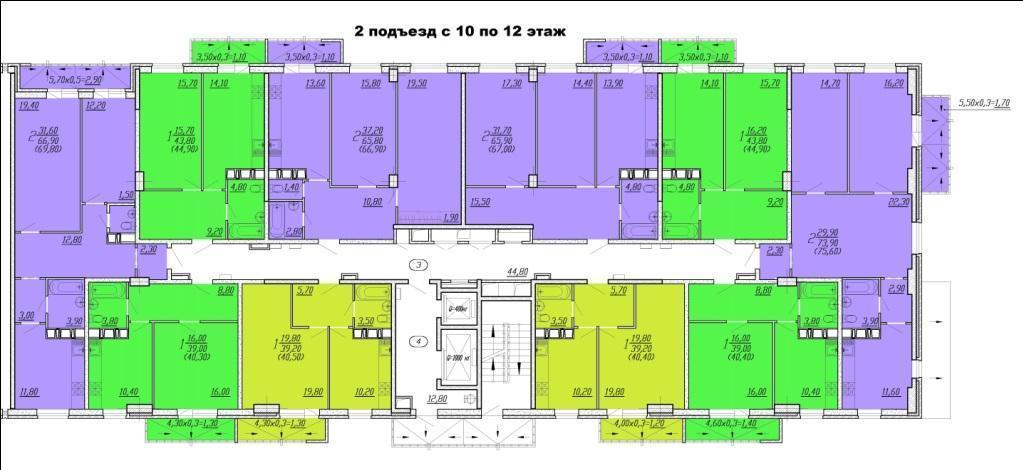 Планировки ЖК Восточный Парк Краснодар | план - 2
