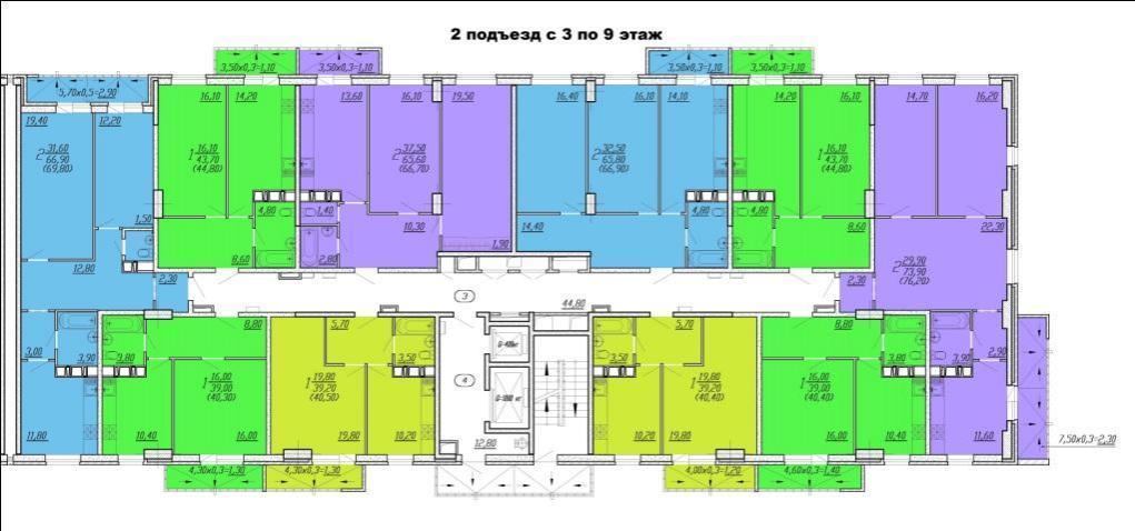 Планировки ЖК Восточный Парк Краснодар | план - 3