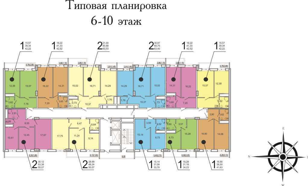 Планировки ЖК Времена года-2 Краснодар   план - 1