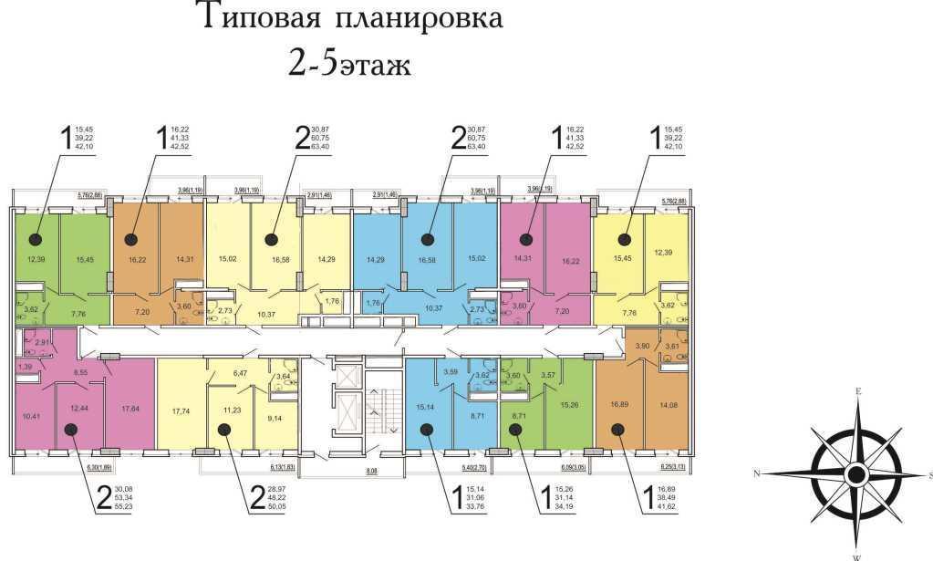 Планировки ЖК Времена года-2 Краснодар   план - 2