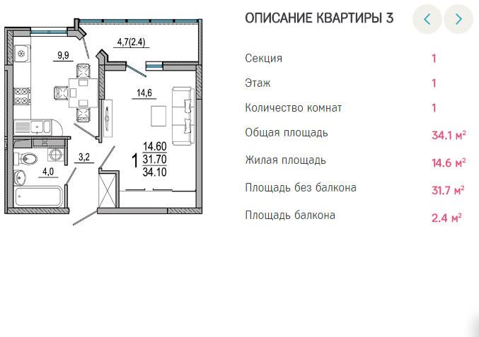 Планировки ЖК Южане Краснодар | план - 3