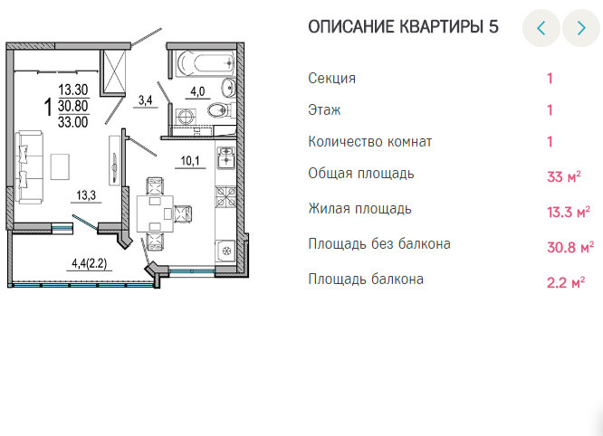 Планировки ЖК Южане Краснодар | план - 5