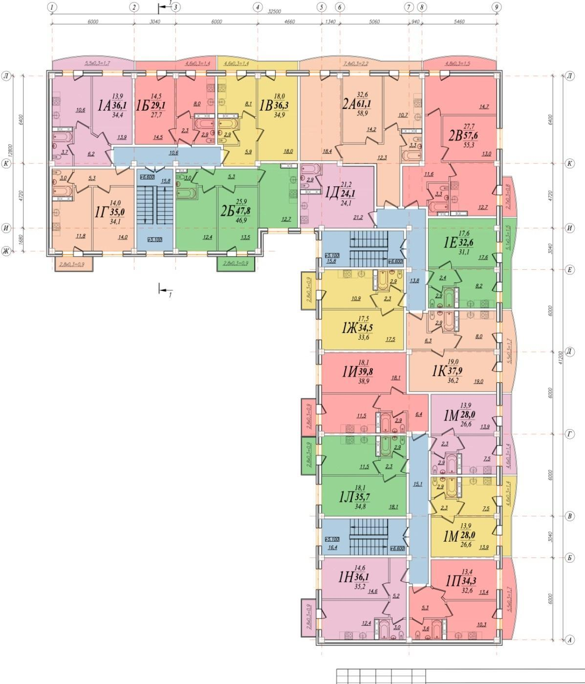 Планировки ЖК Южный сад Краснодар | план - 1