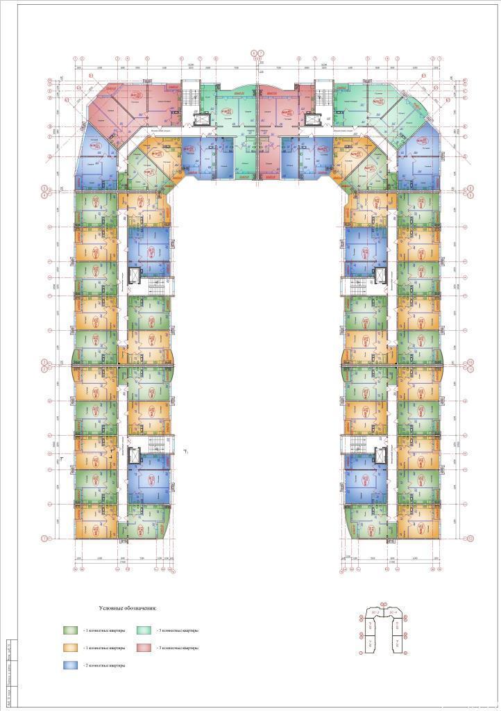 Планировки ЖК Зелёный квартал Краснодар | план - 1