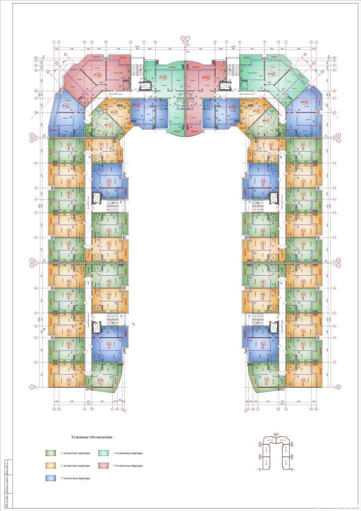 Планировки ЖК Зелёный квартал Краснодар | план - 8