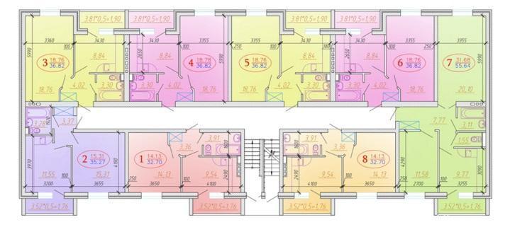 Планировки ЖК Золотая Линия Краснодар | план - 1