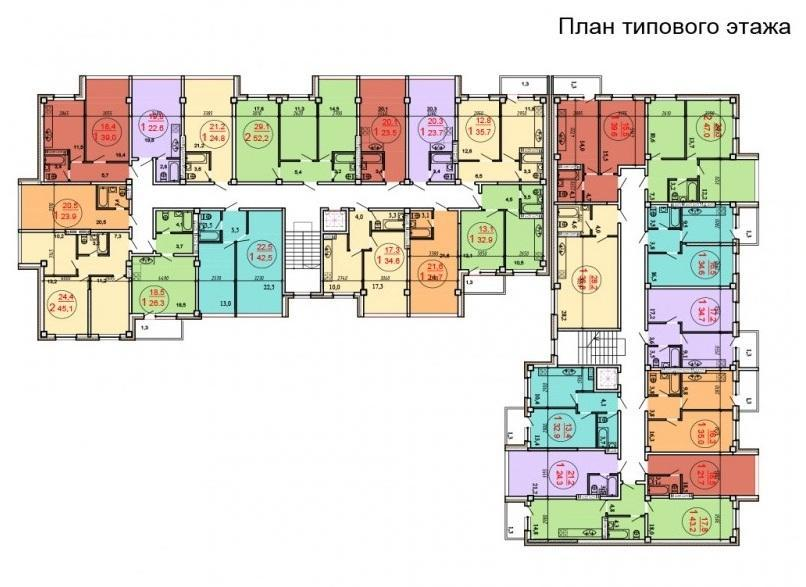 Планировки ЖСК Луч Краснодар | план - 1
