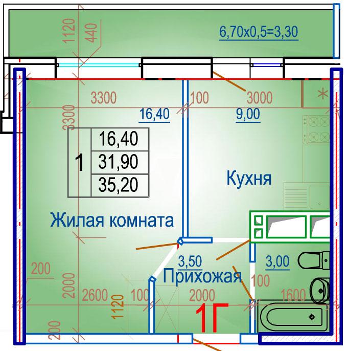Планировки ЖСК Вершина Краснодар | план - 3